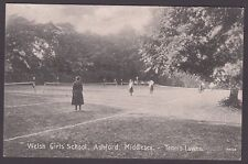 Postcard Ashford Middlesex early view of the Welsh Girls School tennis courts