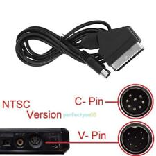 1.8m RGB/RGBS SCART OFC Adapter Cable Connector Cord for SEGA MD2 Game Console