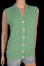 Vintage 70s 80s SWEATER VEST Sleeveless Cardigan V-Neck Sage Green Unisex?