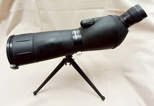 Adventuridge spotting scope 20-60 x 60 in box with stand bag instructions boxed