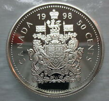 1998 CANADA 50 CENTS PROOF SILVER HALF DOLLAR COIN - A