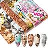 Lots 10PCS Foils Finger Nail Art Sticker Decals DIY Transfer Stickers Tips Decor
