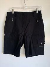 Jamie Sadock Women's Black Nylon Rayon Golf Tennis Bermuda Shorts Size 8
