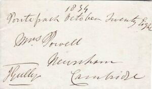 HOF 19th Century UK Boxer John Gully Autograph Signed 1839 3x5 Slip d1863 RARE !