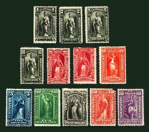 #PR114-#PR125 1895-1897 1c-$100 Complete Set of 12 Mint O.G. Hinged a Few Faults