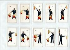 1926 JOHN PLAYER SIGNALLING SERIES CIGARETTE CARDS FULL SET 50/50 EXCELLENT