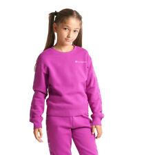 Champion Kids Girls Sweatshirt Crewneck Casual Fleece Purple Hoodie 404268-VS075