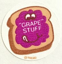 Vintage 80s Matte Trend Scratch & Sniff Sticker - Grape Jelly - Mint!!