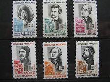 FRANCE neufs n° 1706 à 1709 + 1727-28 CELEBRITES AVEC SURTAXES