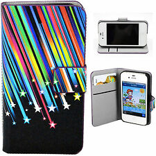 Magnetic PU Leather Flip Wallet Cover Case Pouch For Apple iPhone 4 4S 4G