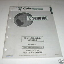 OMC Cobra 3.2 Diesel Stern Drives Parts Catalog 1993