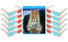3D Mystic Mountains Blu-ray 3D & 10 Anaglyph 3-D Glasses Pack NEW RELEASE NICE!
