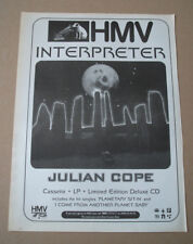 JULIAN COPE - INTERPRETER - 1996 - MUSIC PRESS ADVERT POSTER 15 X 11 in