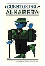 "Movie Poster for film""Alhambra Stories""Spain art.Decorative design.Spanish."