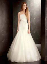 White by Vera Wang Ivory Sequin Organza Wedding Dress Brand new Size 12