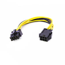 6 Pin to 8 Pin PCI Express PCI-E Video Card Power Adapter Converter Cable 6-8p