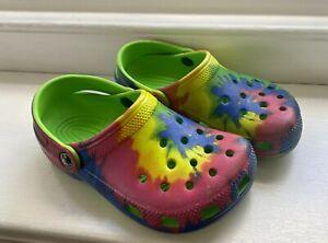 Crocs Tie Dye Junior Size UK 13/1