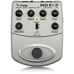 Behringer BDI 21 Bass Amp Modeler/ DI Guitar Effects Pedal