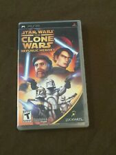 Sony PlayStation PSP Video Game Star Wars The Clone Wars Republic Heroes Rated T