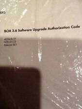 BCM 3.6 Software Upgrade Authorization Code