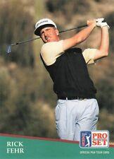 1991 Pro Set Golf Card #33 Rick Fehr Rookie