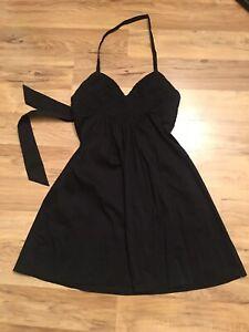 BCBG MAXAZRIA Black Summer Halter Dress Size XXS