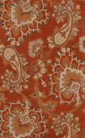 Traditional Floral Paisley Oushak Oriental Hand-Tufted 5'x8' Rust Wool Area Rug