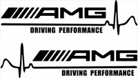 2x AMG Driving Performance Car Window Bumper vinyl Stickers  Decals 200 mm