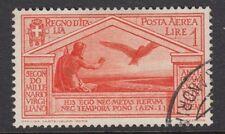 ITALY :1930 Virgil Birth Bimillenary Airmail 1L orange SG 300 used