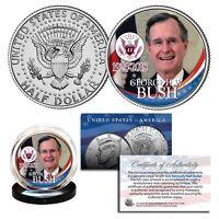 GEORGE BUSH 41st President 1924-2018 Commemorative Kennedy JFK Half Dollar Coin