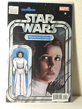 Marvel Star Wars #1 Princess Leia Variant Signed By Writer Jason Aaron WOW!
