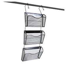 UNIVERSAL Mesh Three-Pack Wall Files with Hanger Letter Black 20011