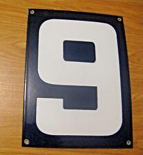 ORIGINAL PORCELAIN HOME STREET ADDRESS / GAS STATION NUMBER 6 or 9 SIGN ~  LOT H