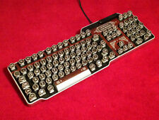 Steampunk Typewriter Keyboard (wood effect)