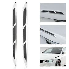 2x ABS Car SUV Exterior Hood Air Flow Fender Side Vent Intake Decoration Sticker