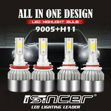 9005 + H11 3020W 453000LM Combo CREE LED Headlight Kit High Low Beam Bulbs 6000K