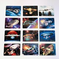 VTG Limited Edition Star Trek The Voyagers Ceramic Collectible Cards Lot of 12