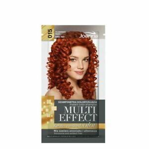 Joanna Multi Effect Hair Color Shampoo Sachet Last 4 to 8 Washes Keratin Complex
