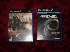 PLAYSTATION 2   AREA 51   WORLD WAR ZERO-IRONSTORM  THIS IS FOR 2 GAMES