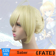 Anime Fate Stay Night Arturia Pendragon Saber Wig Blonde Braid Hair Cosplay FRR