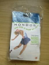 mondor naturals 3373 ice skating tights, size 8-10, 52 black, new in packet
