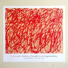 CY TWOMBLY ABSTRACT EXPRESSIONIST LITHOGRAPH PRINT GAGOSIAN GALLERY EXHBT POSTER