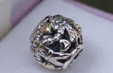 Genuine Pandora Sterling Silver 14kt Gold Family forever hearts Charm 791040