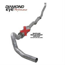 "Diamond Eye 4"" Alum Turbo Back Single No Muff 93-01 Chevy Suburban 6.5L Diesel"