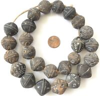 Old African spindle whorl Mali clay African trade beads-Collectible-Mali