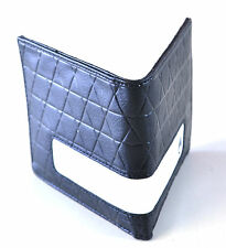 Nixon Showdown Quilted Black PU Leather BiFold Wallet Coin Pocket Card Pocket