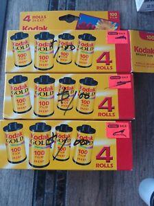 Kodak Gold 35mm 10 rolls 24exp 100 ISO Film Expired
