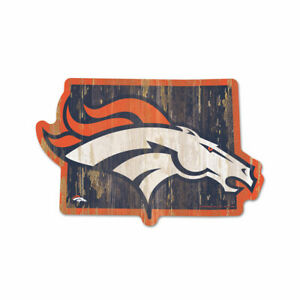 Denver Broncos Wooden Sign NFL Football Federal State Colorado