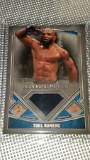 2017 tOPPS UFC mUSEUM #/35 mEANINGFUL material YOEL ROMERO #MMR-YR