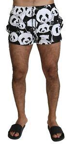 DOLCE & GABBANA Swimshorts Black White Panda Beachwear Boxer IT5 / M